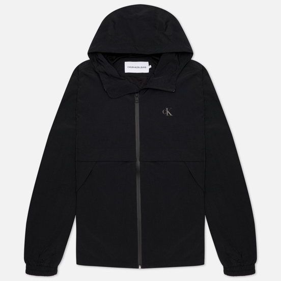 Мужская куртка Calvin Klein Jeans Logo Zip Through Black