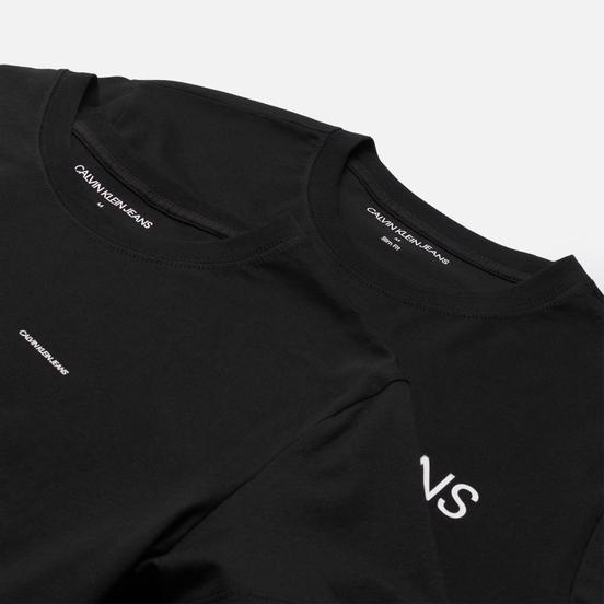 Комплект мужских футболок Calvin Klein Jeans 2-Pack Institutional Logo Black