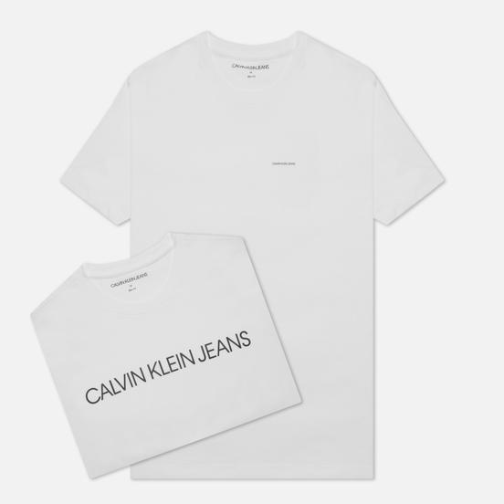 Комплект мужских футболок Calvin Klein Jeans 2-Pack Institutional Logo Bright White