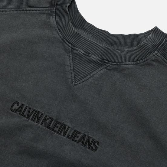 Мужская футболка Calvin Klein Jeans Instit Embroidery Crew Washed Black
