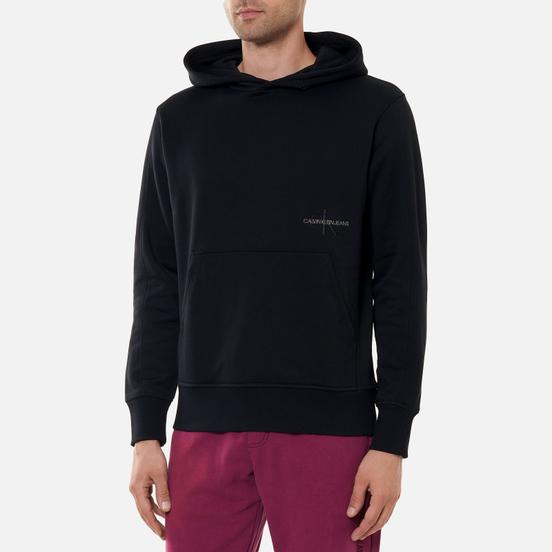 Мужская толстовка Calvin Klein Jeans Off Placed Iconic Hoodie Black