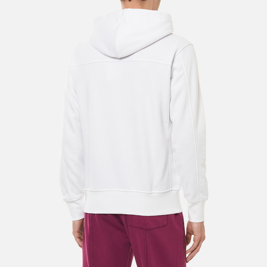 Мужская толстовка Calvin Klein Jeans Off Placed Iconic Hoodie Bright White