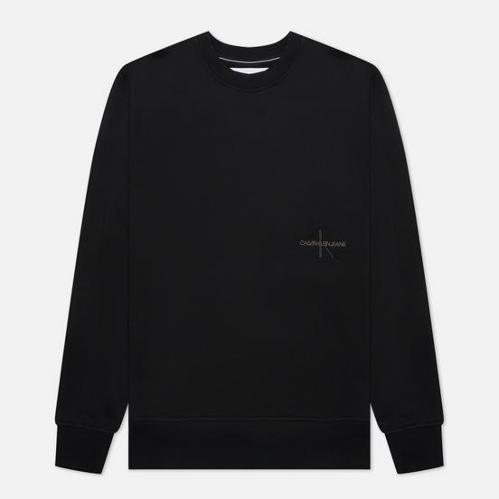 Мужская толстовка Calvin Klein Jeans Off Placed Iconic Crew Black