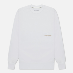 Мужская толстовка Calvin Klein Jeans Off Placed Iconic Crew Bright White