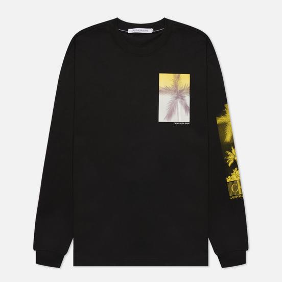 Мужской лонгслив Calvin Klein Jeans Organic Cotton Black