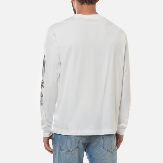 Мужской лонгслив Calvin Klein Jeans Organic Cotton Bright White