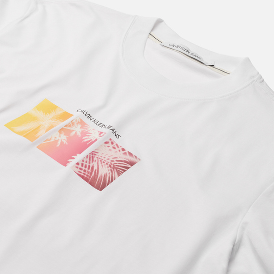 Мужская футболка Calvin Klein Jeans Organic Cotton Palm Print Bright White