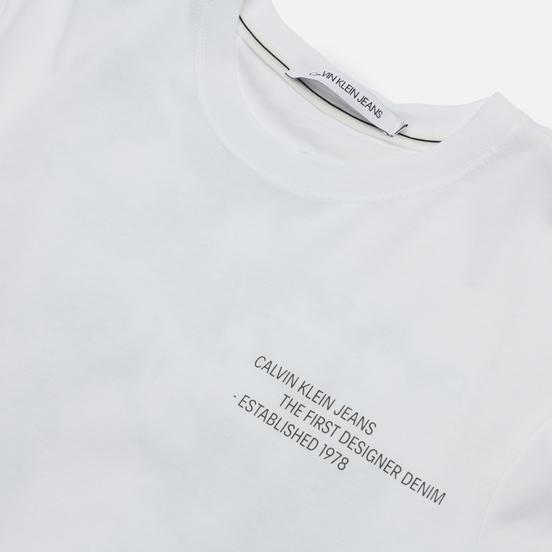 Мужская футболка Calvin Klein Jeans Reptile Back Graphic Bright White