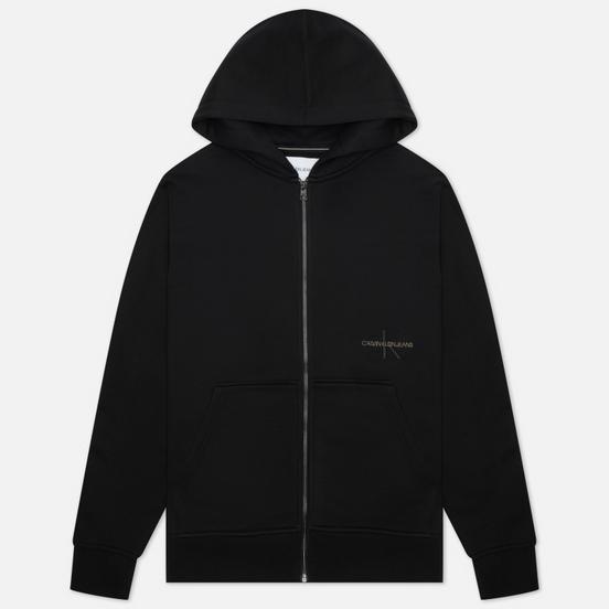 Мужская толстовка Calvin Klein Jeans Off Placed Iconic Zip Hoodie Black