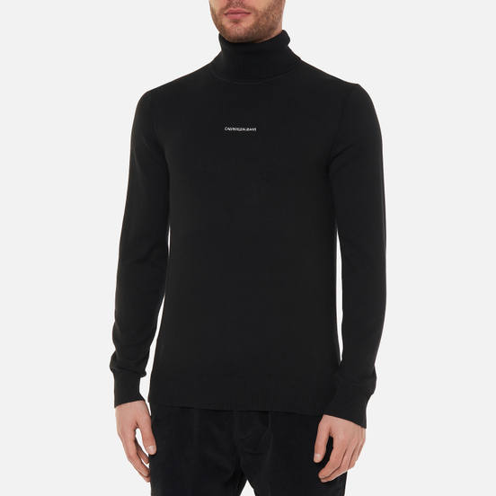 Мужская водолазка Calvin Klein Jeans Micro Branding Roll Neck Black