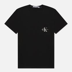Мужская футболка Calvin Klein Jeans Monogram Embroidery Pocket Black/Bright White