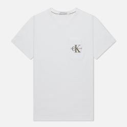 Мужская футболка Calvin Klein Jeans Monogram Embroidery Pocket Bright White/Black