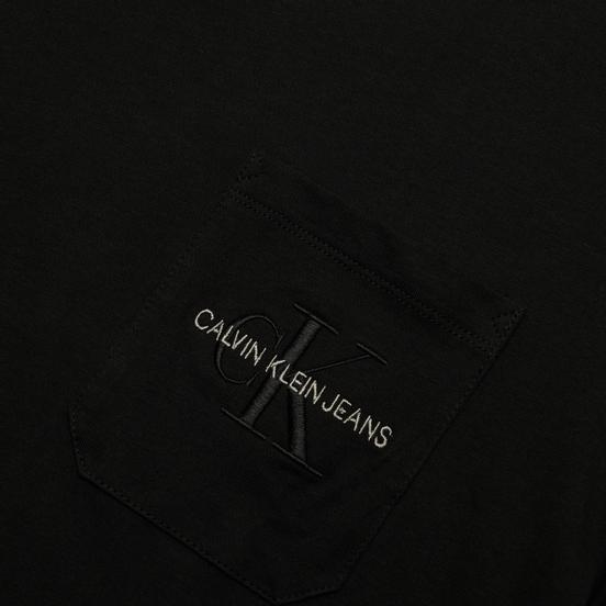 Мужская футболка Calvin Klein Jeans Monogram Embroidery Pocket Black