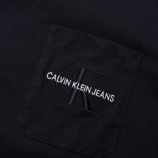 Мужская футболка Calvin Klein Jeans Monogram Embroidery Pocket Night Sky