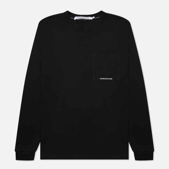 Мужской лонгслив Calvin Klein Jeans Organic Cotton Essentials Black
