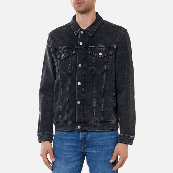 Мужская джинсовая куртка Calvin Klein Jeans Modern Essential Denim Black