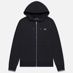 Мужская толстовка Fred Perry Zip Through Hoodie Black/White