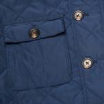 Мужская стеганая куртка Aquascutum Hutchinson Quilted Navy фото- 4