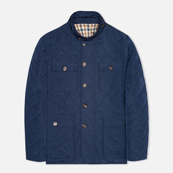 Мужская стеганая куртка Aquascutum Hutchinson Quilted Navy