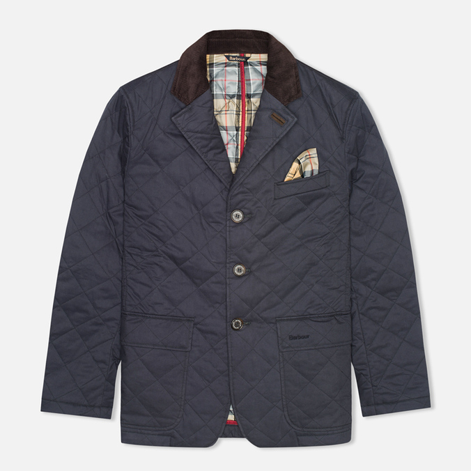 Мужская стеганая куртка Barbour Windsor Quilt Navy