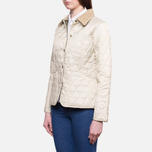 Barbour Prism Quilt Pearl/Olive photo- 1