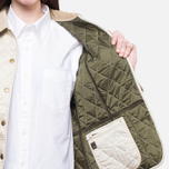 Barbour Prism Quilt Pearl/Olive photo- 7