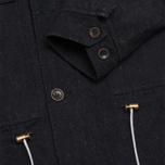 Мужская куртка Bleu De Paname Gabardine Denim Noir фото- 3