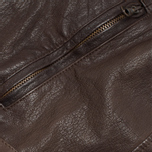 Мужская куртка C.P. Company Leather Goggle Jacket Brown фото- 6