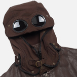 Мужская куртка C.P. Company Leather Goggle Jacket Brown фото- 1