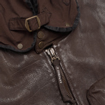 Мужская куртка C.P. Company Leather Goggle Jacket Brown фото- 8