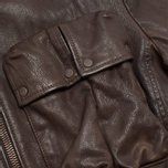 Мужская куртка C.P. Company Leather Goggle Jacket Brown фото- 5