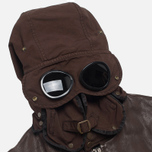 Мужская куртка C.P. Company Leather Goggle Jacket Brown фото- 2