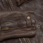 Мужская куртка C.P. Company Leather Goggle Jacket Brown фото- 4