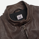 Мужская куртка C.P. Company Leather Goggle Jacket Brown фото- 7