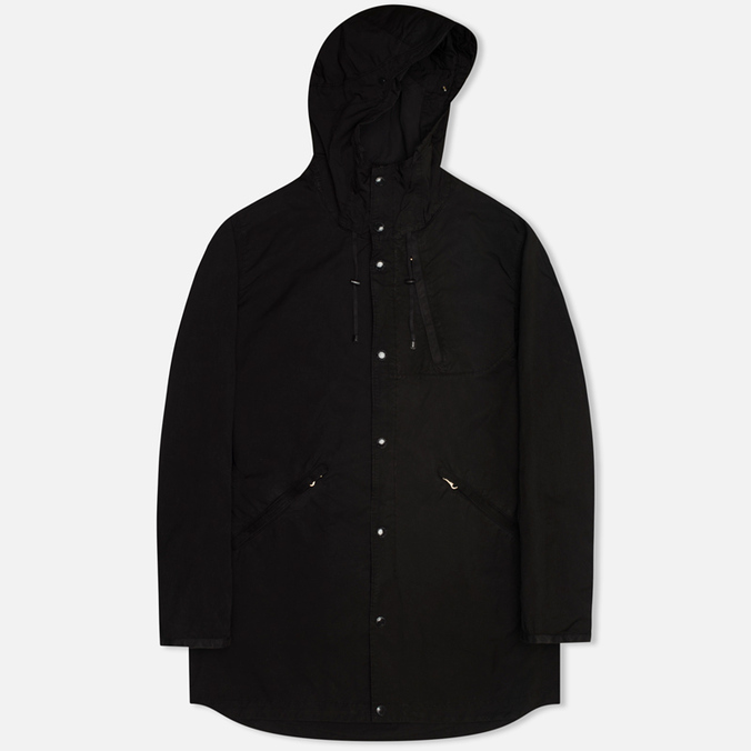 Мужская куртка парка C.P. Company Micro Kei Light Microfibre Goggle Hood Parka Black