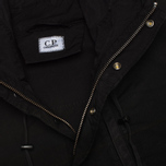 Мужская куртка парка C.P. Company Micro Kei Light Microfibre Goggle Hood Parka Black фото- 4