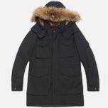 Мужская куртка C.P. Company MICROREPS 60/40 Fur Hood Parka Navy фото- 0