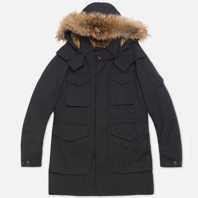 Мужская куртка C.P. Company MICROREPS 60/40 Fur Hood Parka Navy