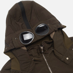 Мужская куртка C.P. Company NYCRA Nylon Shell Polar Fleece Lined Goggle Jacket Olive фото- 1