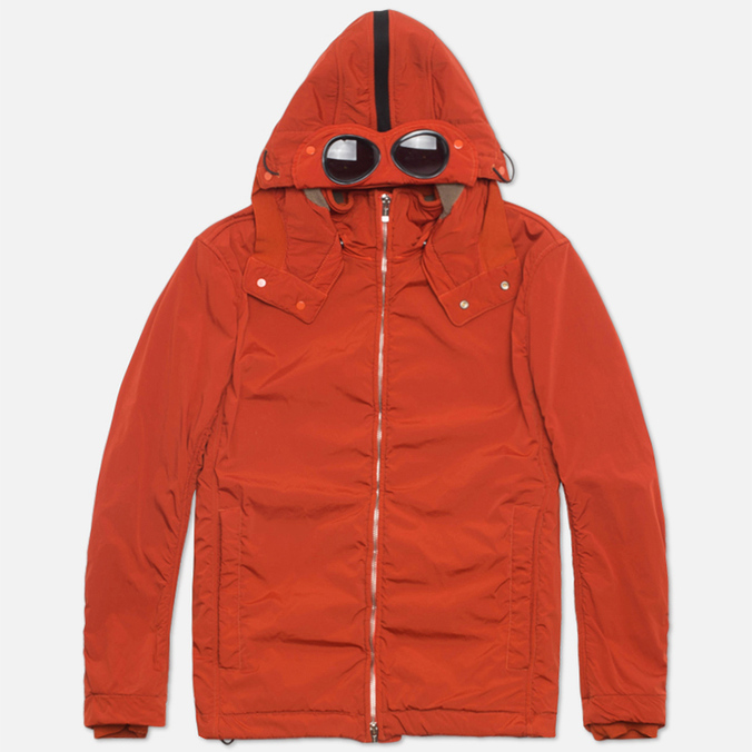 Мужская куртка C.P. Company NYCRA Nylon Shell Polar Fleece Lined Goggle Jacket Orange