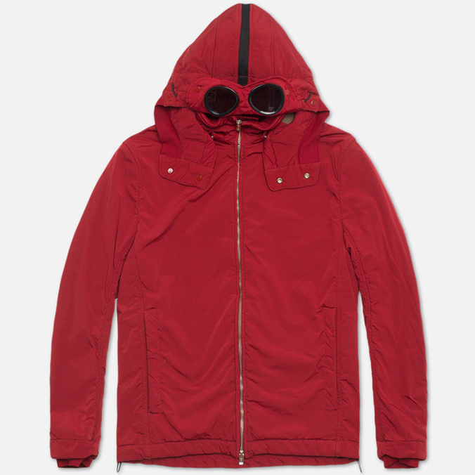 Мужская куртка C.P. Company NYCRA Nylon Shell Polar Fleece Lined Goggle Jacket Red