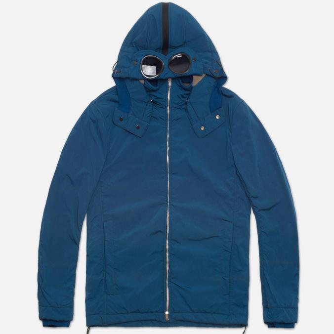 Мужская куртка C.P. Company NYCRA Nylon Shell Polar Fleece Lined Goggle Jacket Turquoise