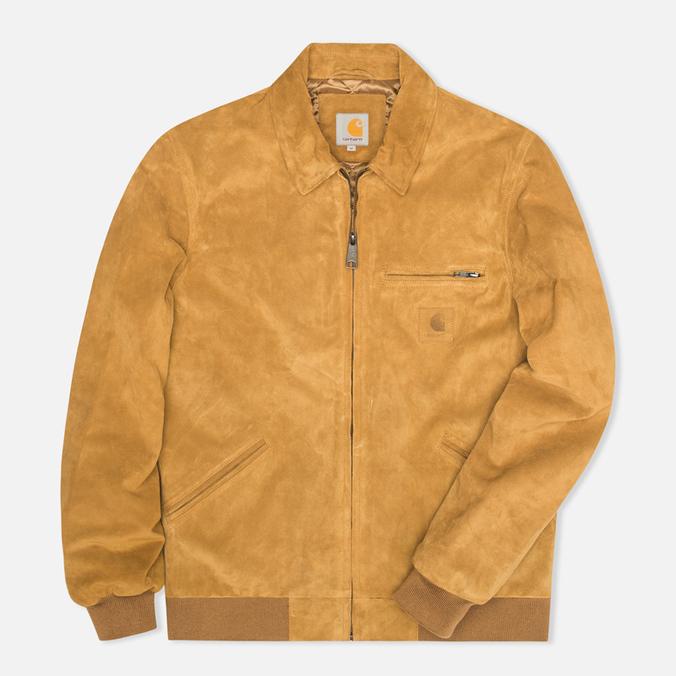 Мужская куртка бомбер Carhartt WIP Detroit Suede Hamilton Brown
