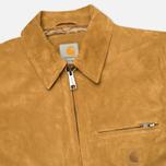 Мужская куртка бомбер Carhartt WIP Detroit Suede Hamilton Brown фото- 2