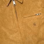Мужская куртка бомбер Carhartt WIP Detroit Suede Hamilton Brown фото- 3