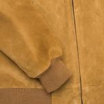 Мужская куртка бомбер Carhartt WIP Detroit Suede Hamilton Brown фото- 6