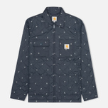 Мужская стеганая куртка Carhartt WIP Pender Economy Print Colony/White фото- 0
