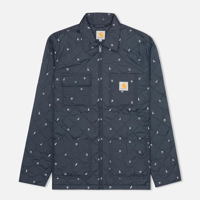 Мужская стеганая куртка Carhartt WIP Pender Economy Print Colony/White