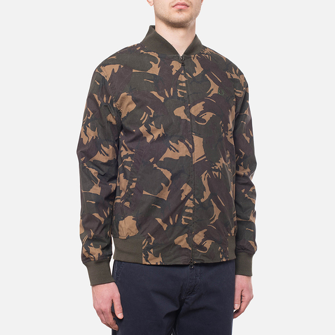 Fred Perry Camo On The Run Hunting Green