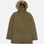 Мужская куртка Fred Perry Down Parka Dark Olive фото- 0